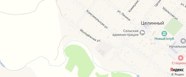 Молодежная улица на карте села Целинного с номерами домов