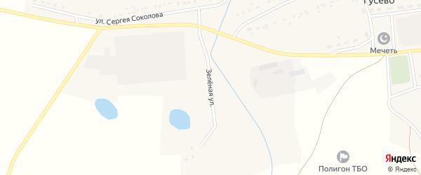 Зеленая улица на карте села Гусево с номерами домов