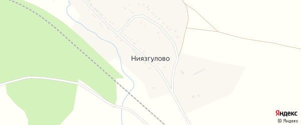 Лесная улица на карте деревни Ниязгулово с номерами домов