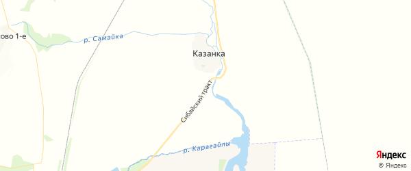 Карта Сибайского сельсовета республики Башкортостан с районами, улицами и номерами домов