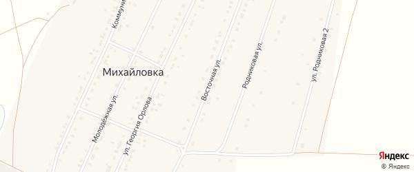 Восточная улица на карте села Михайловки с номерами домов