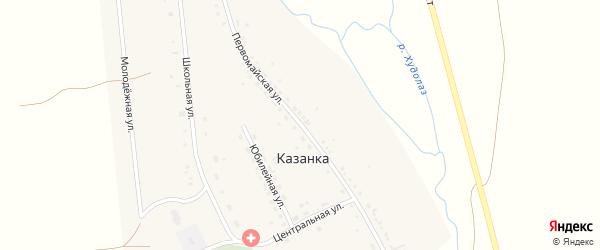 Первомайская улица на карте деревни Казанки с номерами домов