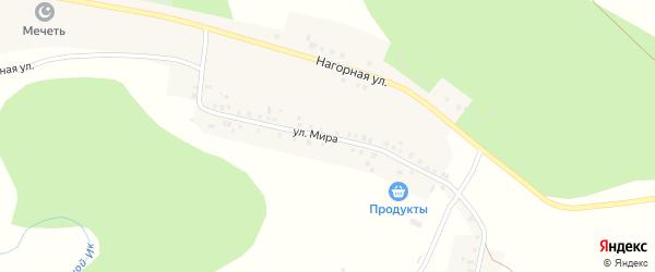 Улица Мира на карте села Яныбаево с номерами домов