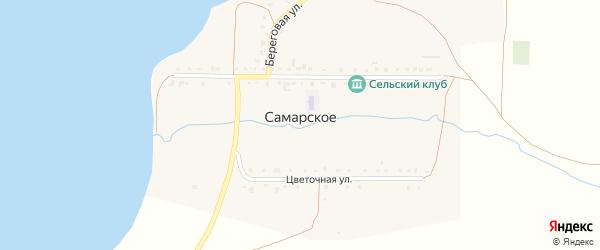 Южная улица на карте деревни Самарского с номерами домов