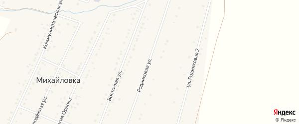 Родниковая улица на карте села Михайловки с номерами домов