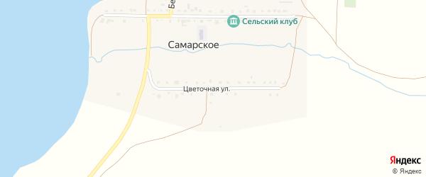 Цветочная улица на карте деревни Самарского с номерами домов