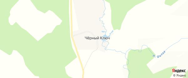 Карта села Черного Ключа в Башкортостане с улицами и номерами домов