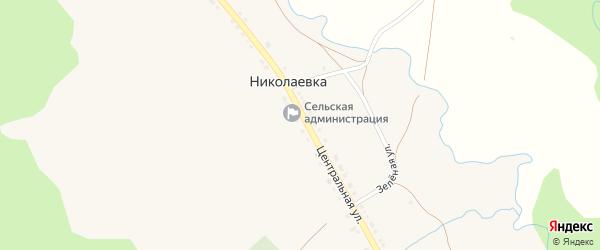 Лесная улица на карте села Николаевки с номерами домов