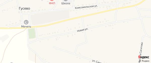 Новая улица на карте села Гусево с номерами домов