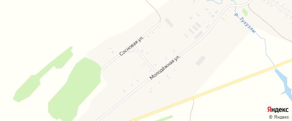 Заречная улица на карте деревни Тугузлы с номерами домов