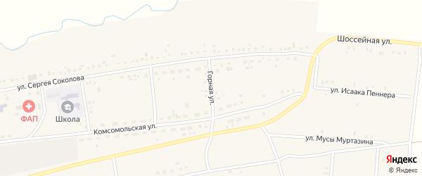 Горная улица на карте села Гусево с номерами домов