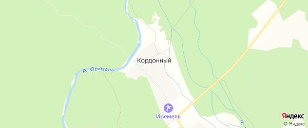 Карта Кордонного поселка в Челябинской области с улицами и номерами домов