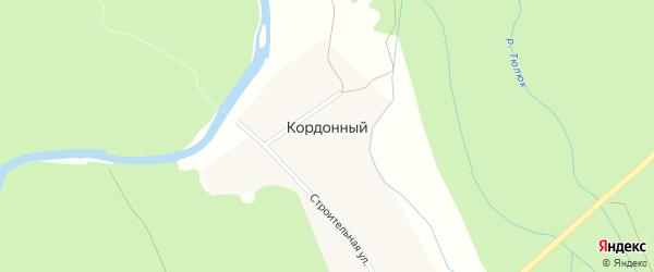Строительная улица на карте Кордонного поселка с номерами домов