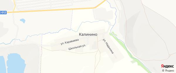 Карта деревни Калинино в Башкортостане с улицами и номерами домов