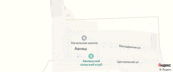 Улица 70 лет Октября на карте деревни Авняша с номерами домов