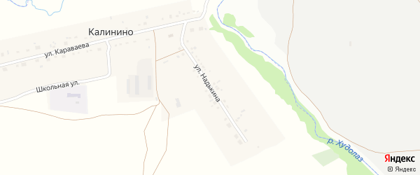 Улица Надькина на карте деревни Калинино с номерами домов