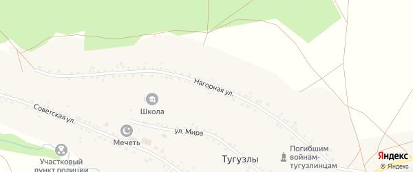 Нагорная улица на карте деревни Тугузлы с номерами домов
