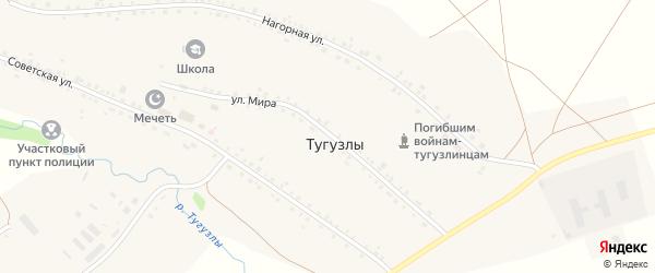 Улица Мира на карте деревни Тугузлы с номерами домов