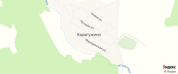 Айская улица на карте деревни Карагужино с номерами домов