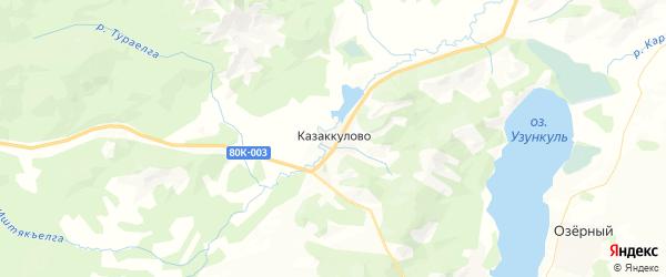 Карта Миндякского сельсовета республики Башкортостан с районами, улицами и номерами домов