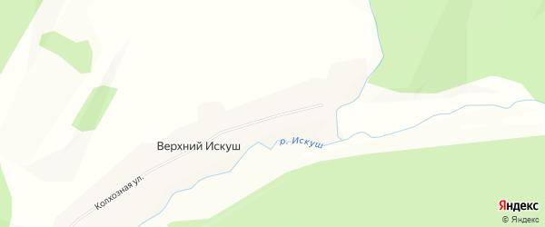 Карта села Верхнего Искуша в Башкортостане с улицами и номерами домов