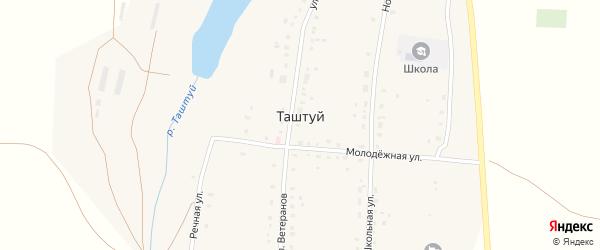 Улица Мусы Муртазина на карте деревни Таштуя с номерами домов