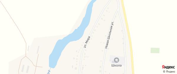Улица Мира на карте деревни Таштуя с номерами домов