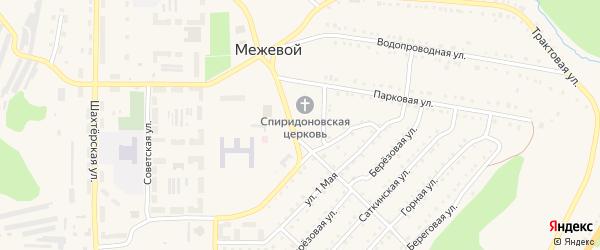 Улица Попова на карте Межевого поселка с номерами домов