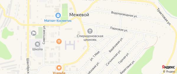 Надпрудная улица на карте Межевого поселка с номерами домов