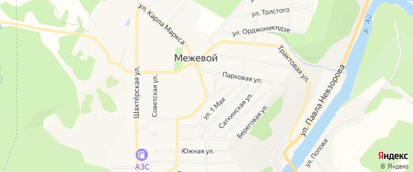 Карта Межевого поселка в Челябинской области с улицами и номерами домов