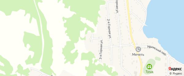 Горная 4-я улица на карте села Миндяка с номерами домов