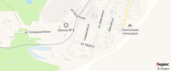 Северная улица на карте Бакала с номерами домов
