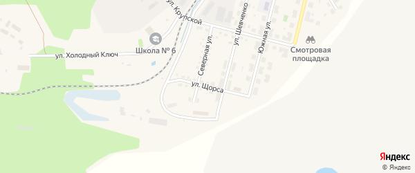 Улица Щорса на карте Бакала с номерами домов