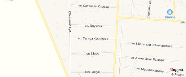 Улица Тагира Кусимова на карте Янгельского села с номерами домов