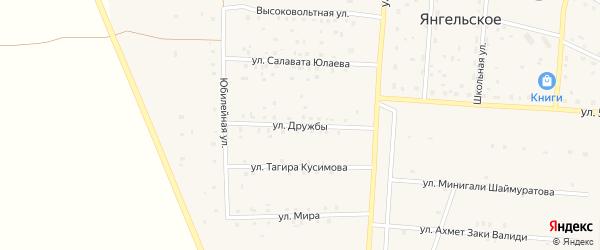 Улица Дружбы на карте Янгельского села с номерами домов