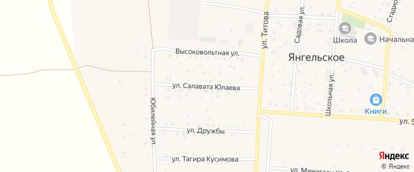 Улица Салавата Юлаева на карте Янгельского села с номерами домов