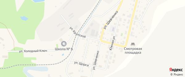 Улица Крупской на карте Бакала с номерами домов