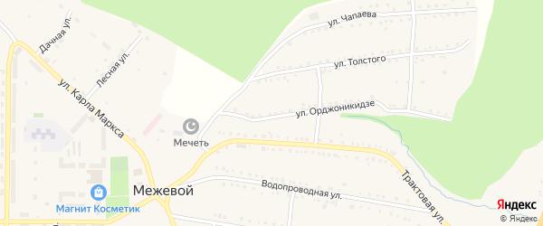 Улица Орджоникидзе на карте Межевого поселка с номерами домов
