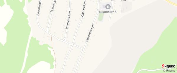 Советская улица на карте села Миндяка с номерами домов