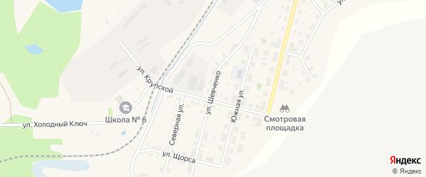 Улица Шевченко на карте Бакала с номерами домов