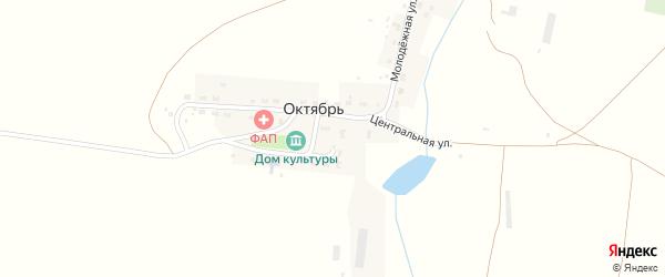 Школьная улица на карте деревни Октября с номерами домов