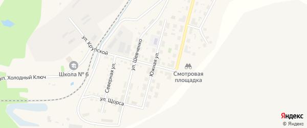 Южная улица на карте Бакала с номерами домов