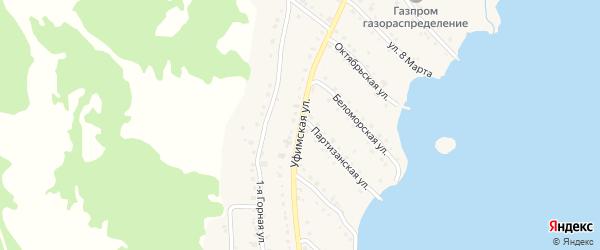 Уфимская улица на карте села Миндяка с номерами домов