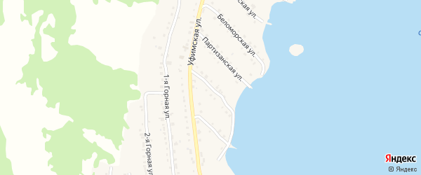 Уфимский 3-й переулок на карте села Миндяка с номерами домов