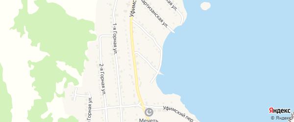 Уфимский 2-й переулок на карте села Миндяка с номерами домов