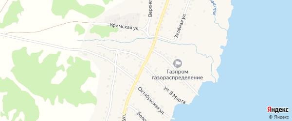 Первомайская улица на карте села Миндяка с номерами домов