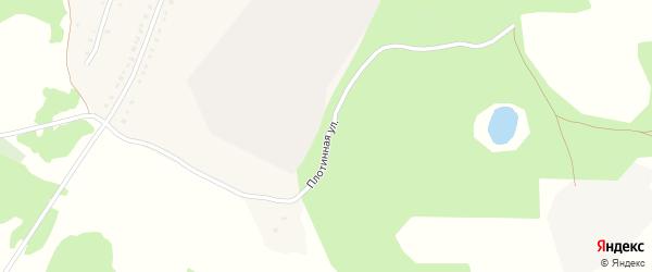 Плотинная улица на карте села Миндяка с номерами домов