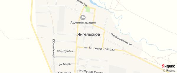 Карта Янгельского села в Башкортостане с улицами и номерами домов