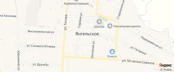 Полевая улица на карте Янгельского села с номерами домов