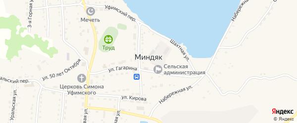 Улица Россыпь на карте села Миндяка с номерами домов